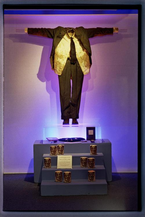 The Suit in which Harvey Milk was Assassinated. Collection: GLBT Historical Society. Photo: Dan Nicoletta